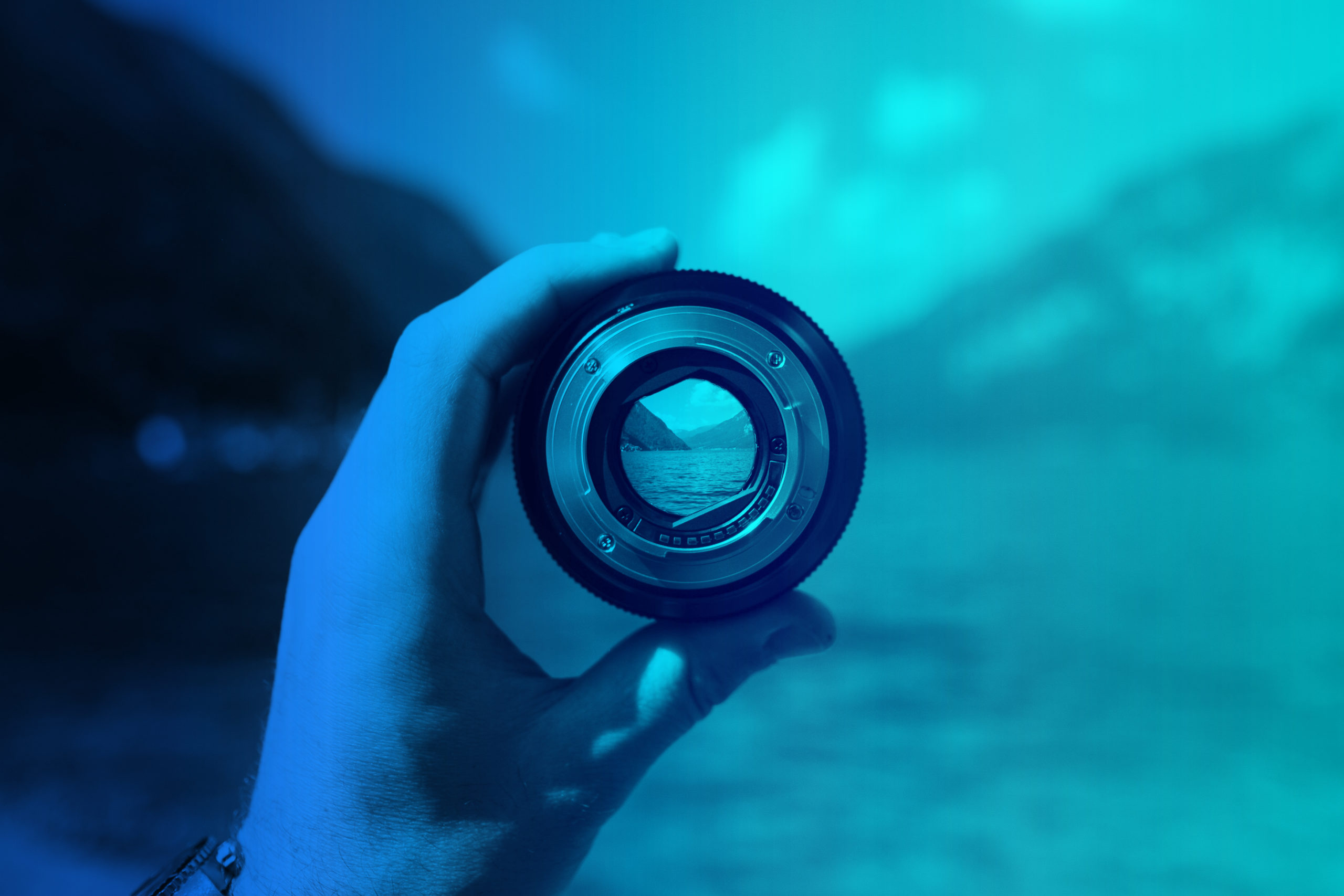 Focus through camera lens.
